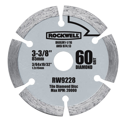 "View a Larger Image of Versacut 3 3/8"" Diamond Grit Blade"