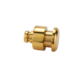 "Jewelry Box Feet/Knob Polished Brass 1/2"" diameter 1-piece"