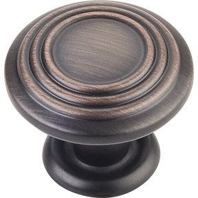 "Vienna Knob, 1-1/4"" Dia.,  Brushed Oil Rubbed Bronze"