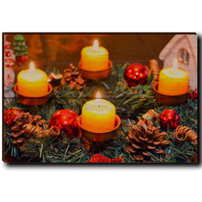 "Wall Art Candle Wreath 12"" x 8"""