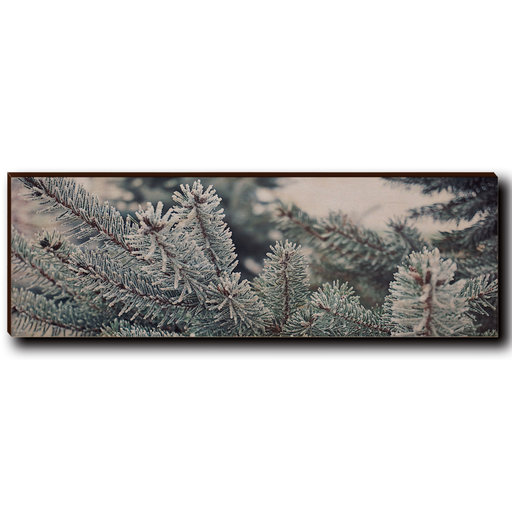 "View a Larger Image of Wall Art Frosty Pine 12"" x 4"""