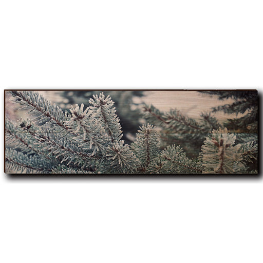 """View a Larger Image of Wall Art Frosty Pine 24"""" x 8"""""""