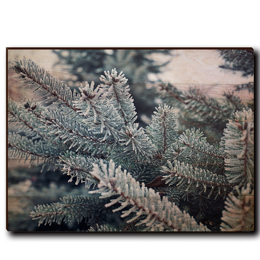 "View a Larger Image of Wall Art Frosty Pine 40"" x 30"""