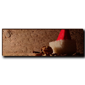 "Wall Art Here Comes Santa 12"" x 4"""