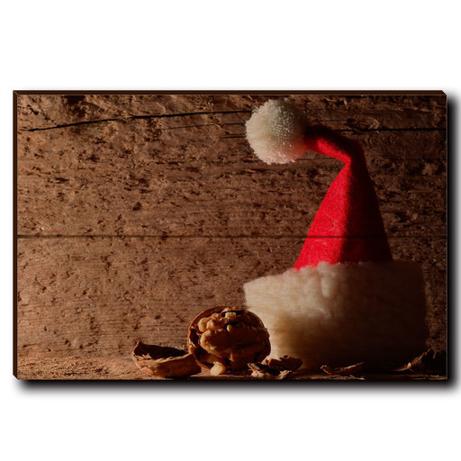 """View a Larger Image of Wall Art Here Comes Santa 12"""" x 8"""""""