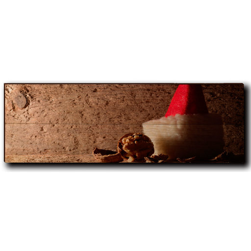 """View a Larger Image of Wall Art Here Comes Santa 24"""" x 8"""""""