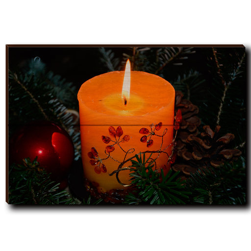 """View a Larger Image of Wall Art Holiday Candle 12"""" x 8"""""""