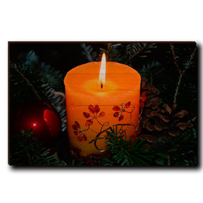"Wall Art Holiday Candle 24"" x 16"""