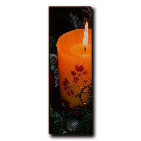 "Wall Art Holiday Candle 4"" x 12"""