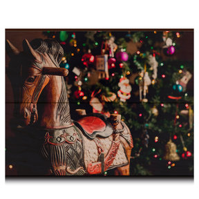 "Wall Art Holiday Rocking Horse 12"" x 8"""