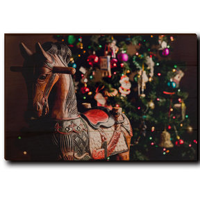 "Wall Art Holiday Rocking Horse 24"" x 16"""