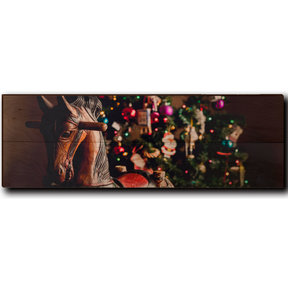 "Wall Art Holiday Rocking Horse 24"" x 8"""