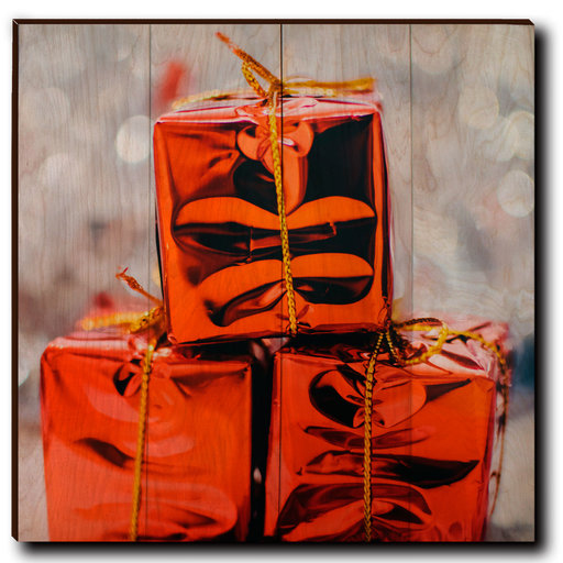 "View a Larger Image of Wall Art Holiday Surprise 24"" x 24"""