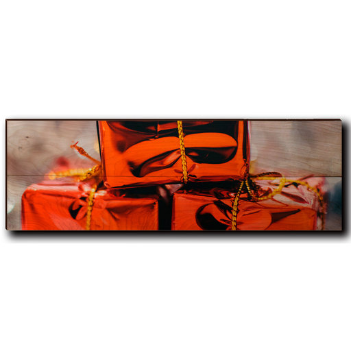 "View a Larger Image of Wall Art Holiday Surprise 24"" x 8"""