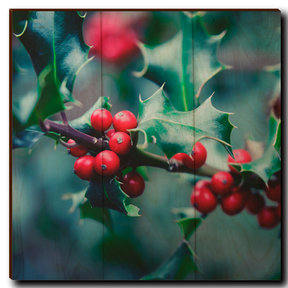 "Wall Art Holly Time 12"" x 12"""