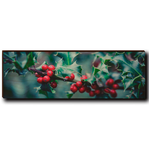 "View a Larger Image of Wall Art Holly Time 12"" x 4"""