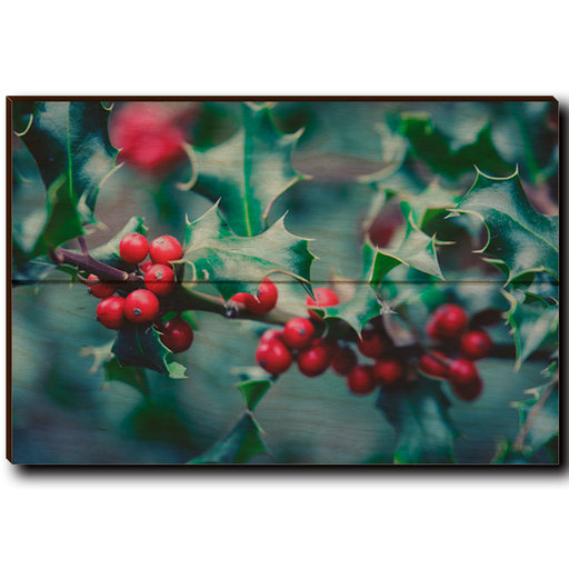 "View a Larger Image of Wall Art Holly Time 12"" x 8"""