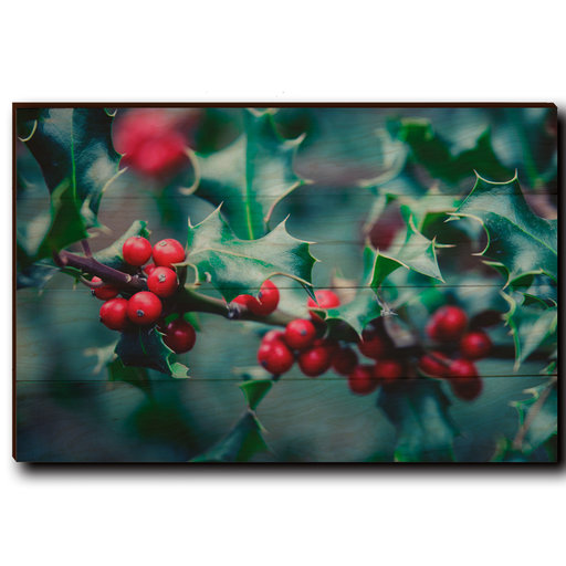"View a Larger Image of Wall Art Holly Time 24"" x 16"""