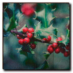 "Wall Art Holly Time 24"" x 24"""