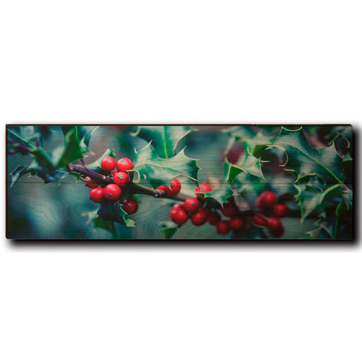 """View a Larger Image of Wall Art Holly Time 24"""" x 8"""""""