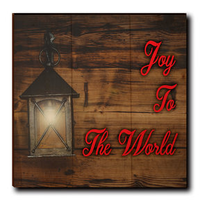 "Wall Art Joy To The World Red  12"" x 12"""
