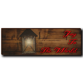 "Wall Art Joy To The World Red  12"" x 4"""