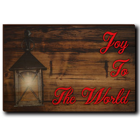 "Wall Art Joy To The World Red  24"" x 16"""