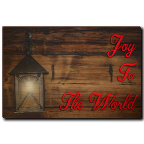 "Wall Art Joy To The World Red  36"" x 24"""