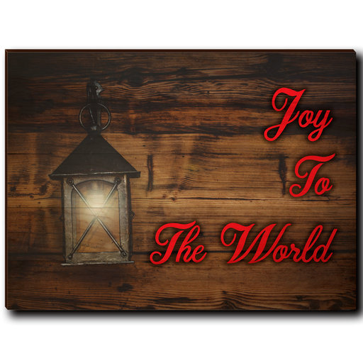 "View a Larger Image of Wall Art Joy To The World Red  40"" x 30"""