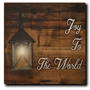 "Wall Art Joy To The World White  12"" x 12"""