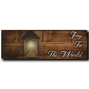 "Wall Art Joy To The World White  12"" x 4"""