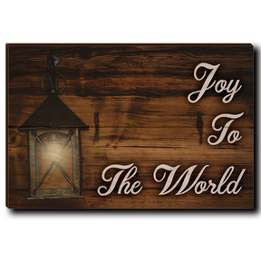 "Wall Art Joy To The World White  12"" x 8"""