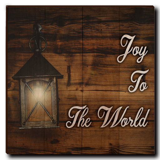 "View a Larger Image of Wall Art Joy To The World White  24"" x 24"""