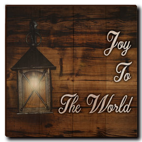 "Wall Art Joy To The World White  24"" x 24"""