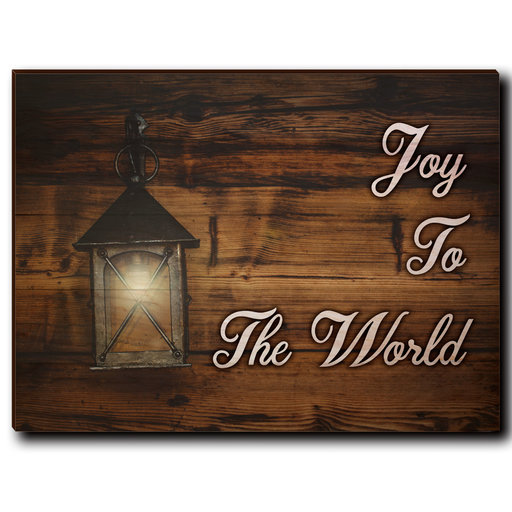 "View a Larger Image of Wall Art Joy To The World White  40"" x 30"""