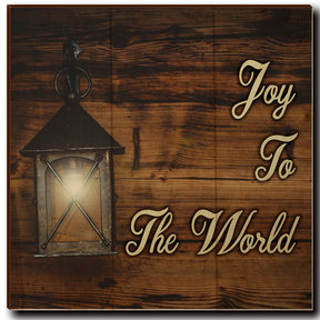 "Wall Art Joy To The World Yellow  12"" x 12"""