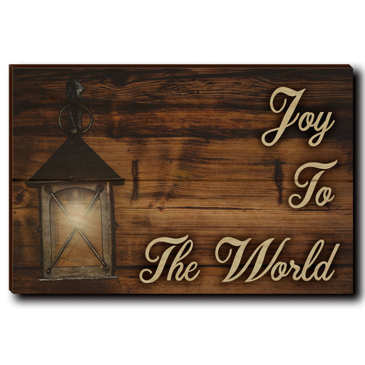 "View a Larger Image of Wall Art Joy To The World Yellow  12"" x 8"""