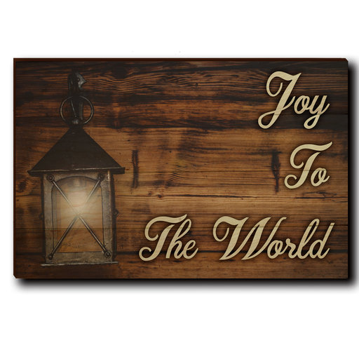 "View a Larger Image of Wall Art Joy To The World Yellow  24"" x 16"""