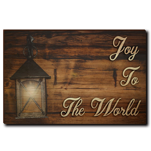 "View a Larger Image of Wall Art Joy To The World Yellow  36"" x 24"""