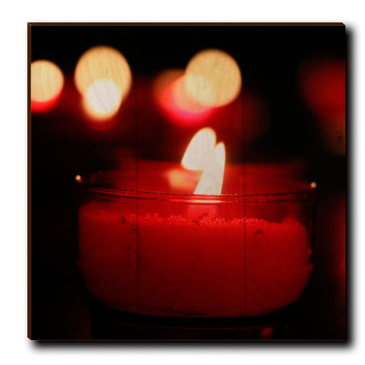 """View a Larger Image of Wall Art Noel Candle 12"""" x 12"""""""