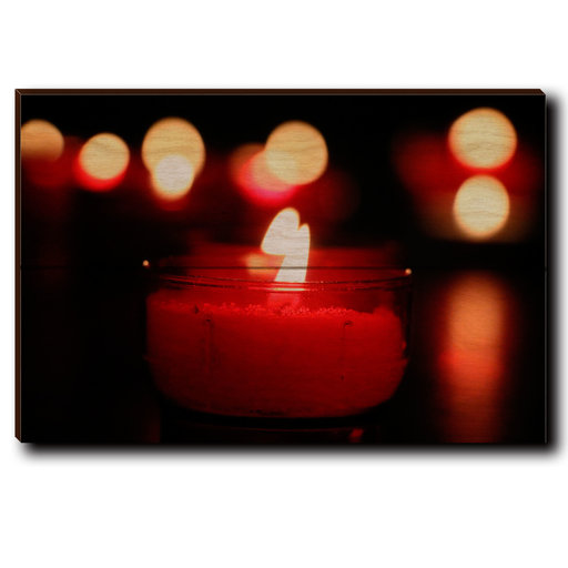 "View a Larger Image of Wall Art Noel Candle 12"" x 8"""