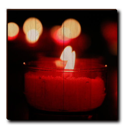 "View a Larger Image of Wall Art Noel Candle 24"" x 24"""