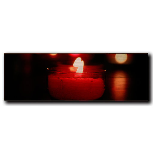 "View a Larger Image of Wall Art Noel Candle 24"" x 8"""
