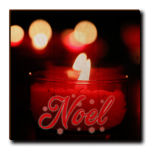 "View a Larger Image of Wall Art Noel Candle Red  12"" x 12"""
