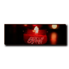 "Wall Art Noel Candle Red  12"" x 4"""