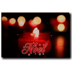 "Wall Art Noel Candle Red  24"" x 16"""