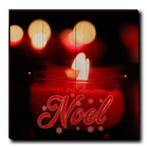 "Wall Art Noel Candle Red  24"" x 24"""