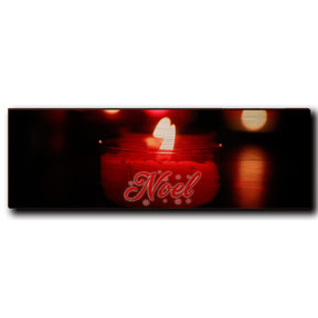 "Wall Art Noel Candle Red  24"" x 8"""