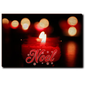 "Wall Art Noel Candle Red  36"" x 24"""