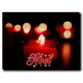 "Wall Art Noel Candle Red  40"" x 30"""
